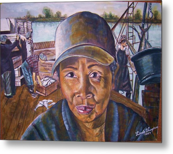Fisher Woman Metal Print by Linda Vaughon