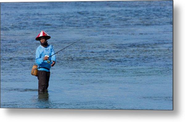 Fisherman - Bali Metal Print