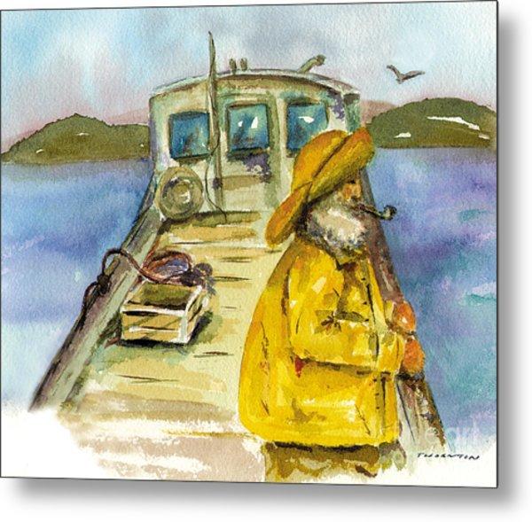 Fisherman Half Moon Bay Metal Print