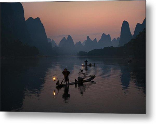 Fisherman Of The Li River Metal Print
