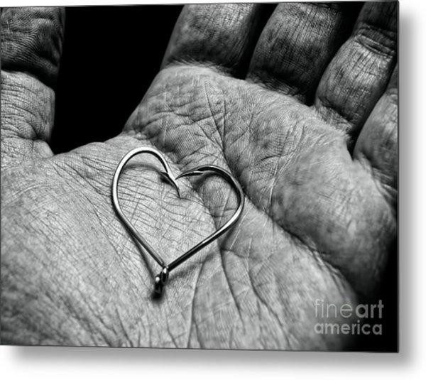 Fisherman's Heart Metal Print