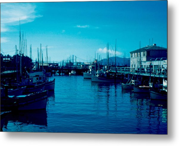 Fisherman's Wharf 1955 Metal Print by Cumberland Warden