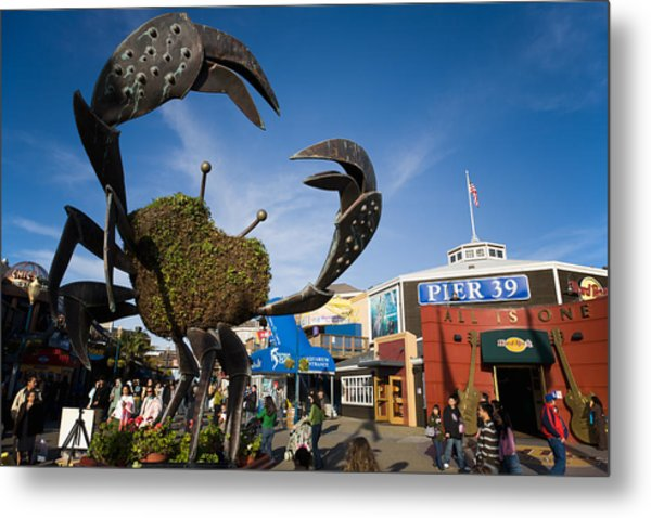 Fishermans Wharf Crab Metal Print