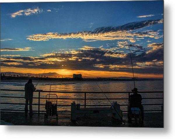 Fishermen Morning Metal Print