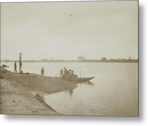 Fishermen On The Bank Of A River, Henry Pauw Van Wieldrecht Metal Print by Artokoloro