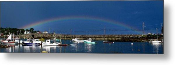 Fishermen's Rainbow Metal Print