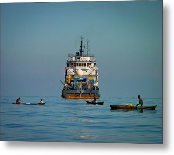 Fishing Around The Art Carlson On Anchor Metal Print