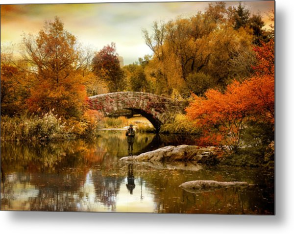 Metal Print featuring the photograph Fishing At Gapstow by Jessica Jenney