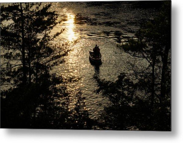 Fishing At Sunset - Thousand Islands Saint Lawrence River Metal Print