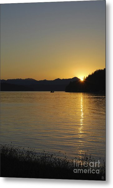 Metal Print featuring the photograph Fishing Boat At Twilight II by Susan Parish