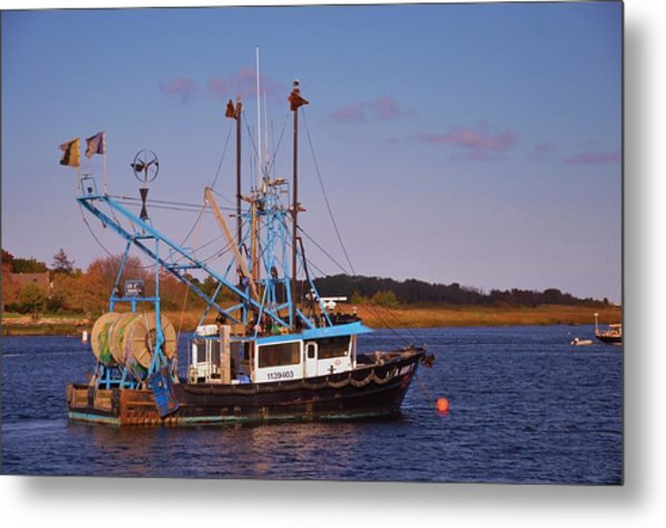 Fishing Boat Newburyport Metal Print