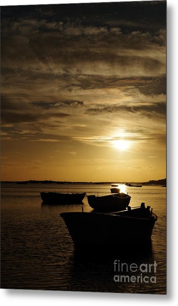 Fishing Boats In Cacela Velha Metal Print