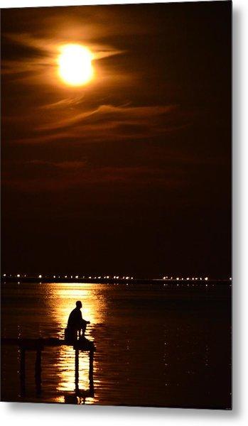 Fishing By Moonlight01 Metal Print