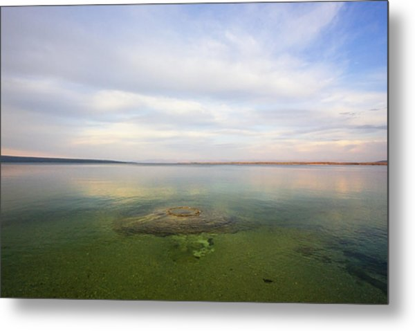 Fishing Cone At Sunset Metal Print
