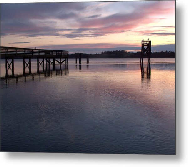 Fishing Dock Pastel Metal Print