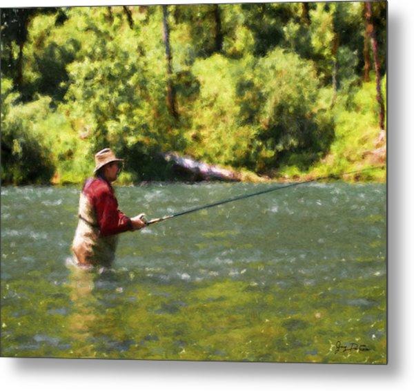 Fishing For Salom Metal Print