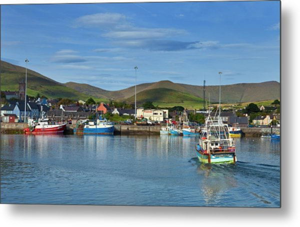 Fishing Harbour In Dingle Town, Dingle Metal Print