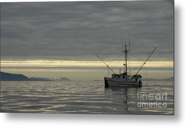 Fishing In Alaska Metal Print