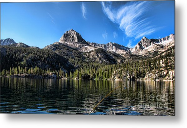 Fishing In Lake Sabrina Metal Print