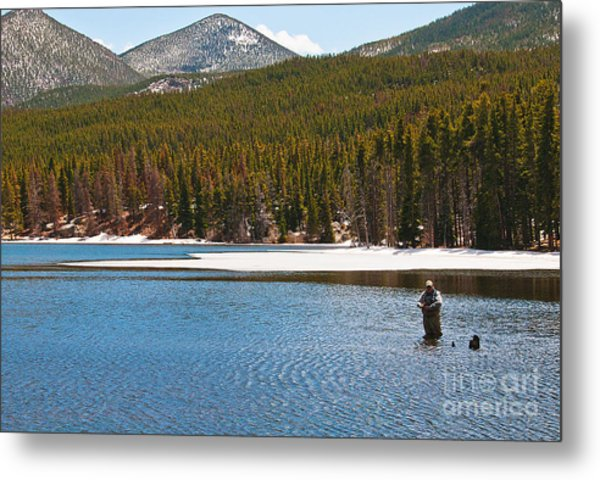 Metal Print featuring the photograph Fishing In Winter by Mae Wertz