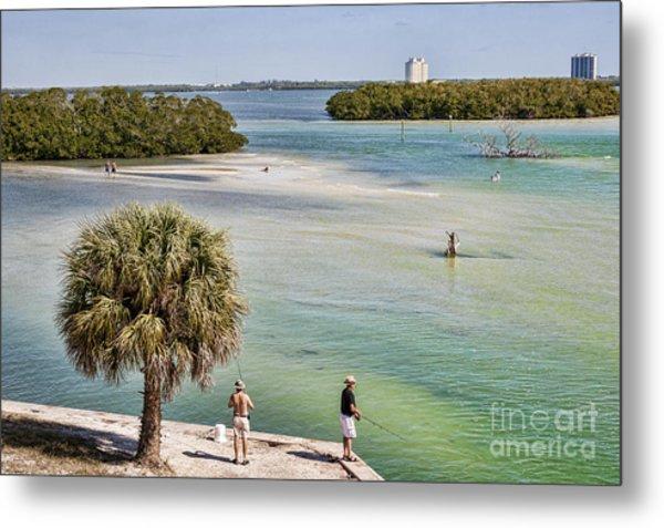 Fishing On Estero Bay Near Fort Myers Beach Florida Metal Print by William Kuta