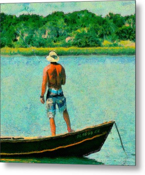 Fishing On The Matanzas Metal Print