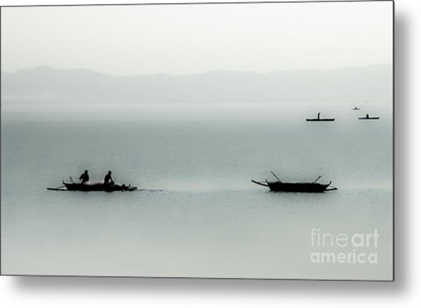 Fishing On The Philippine Sea   Metal Print