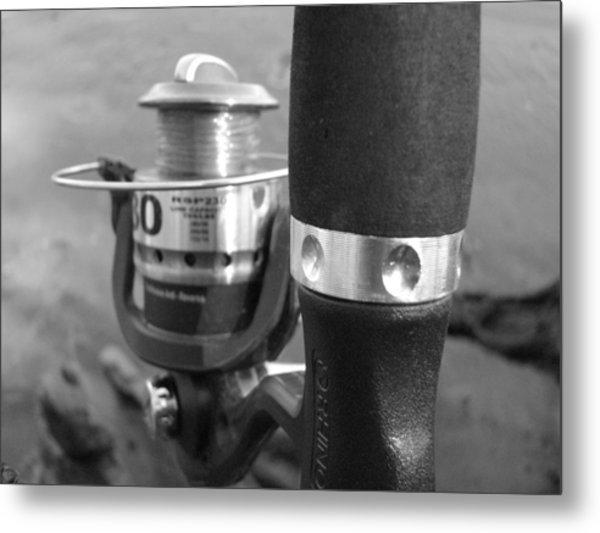 Fishing Pole Metal Print by Daralyn Spivey