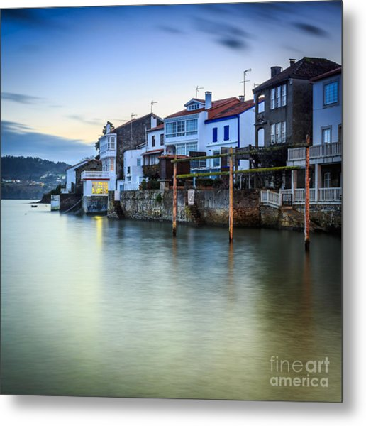 Fishing Town Of Redes Galicia Spain Metal Print