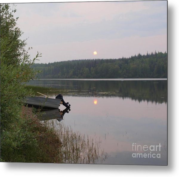 Fishing Tranquility Metal Print