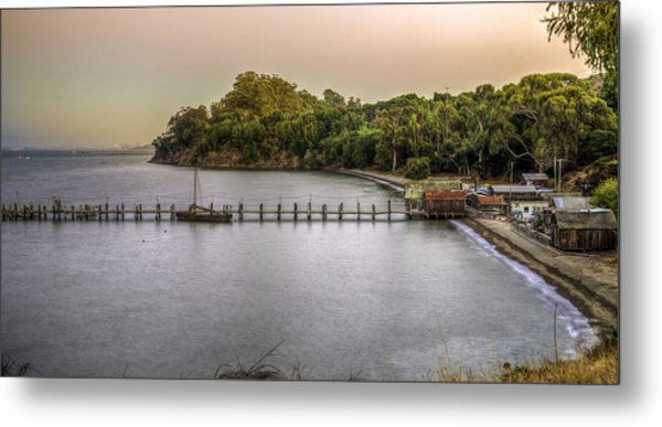 Fishing Village Metal Print