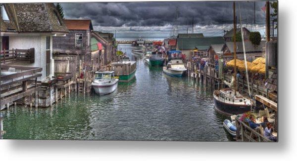Fishtown Panorama Metal Print