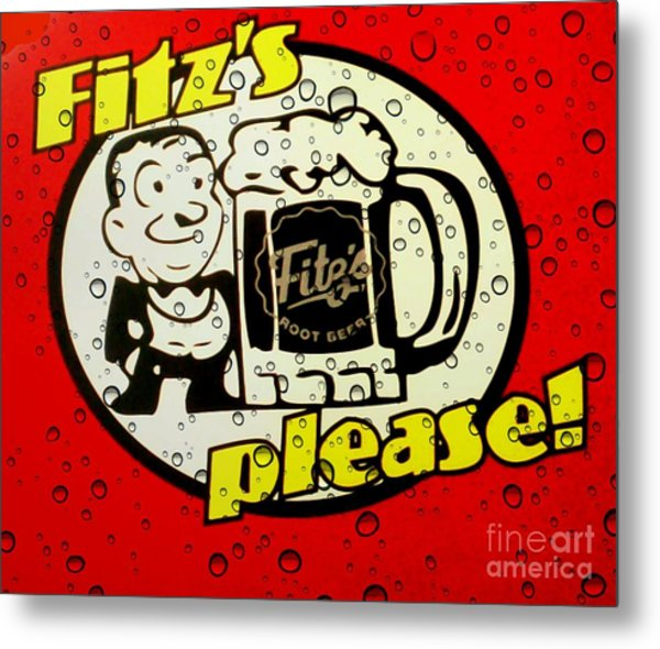 Fitz's Please All Wet Metal Print
