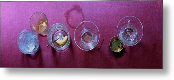 Five Cocktails Metal Print