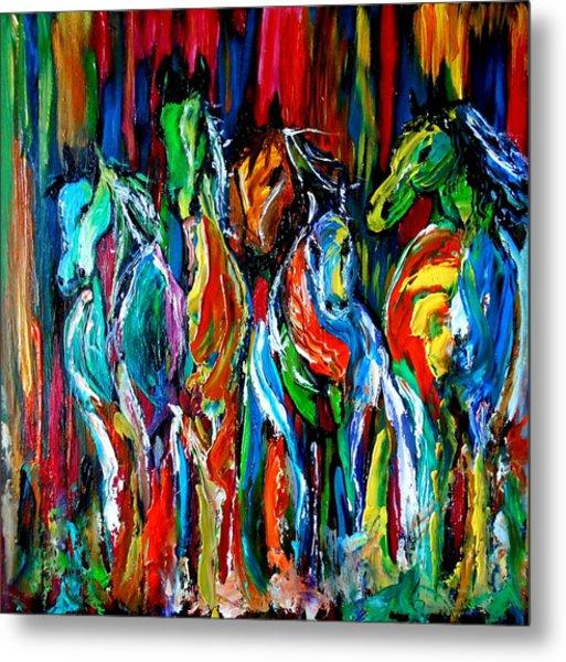 Five Horses Metal Print