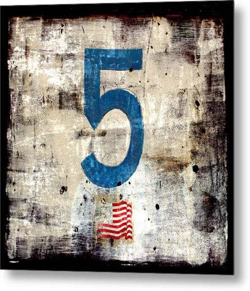 Five On The Flag Metal Print