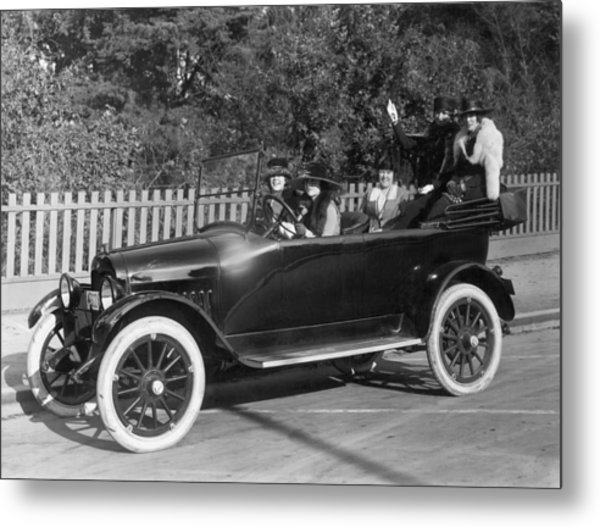 Five Women Out For A Drive Metal Print