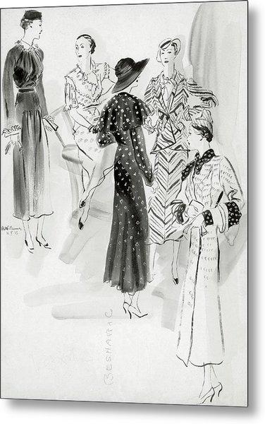 Five Women Wearing Chanel Metal Print