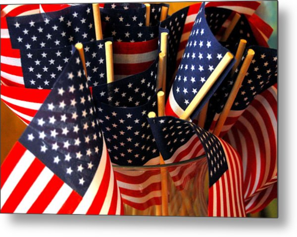 Flag Bouquet Metal Print by Mamie Gunning