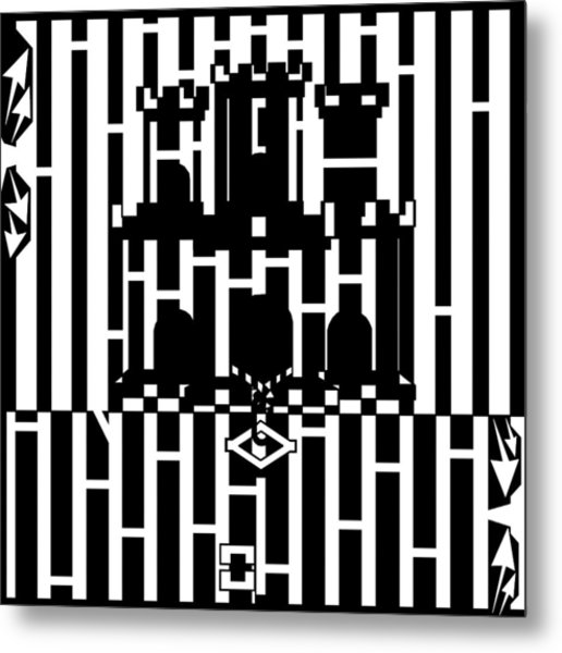 Flag Of Gibraltar Maze  Metal Print by Yonatan Frimer Maze Artist