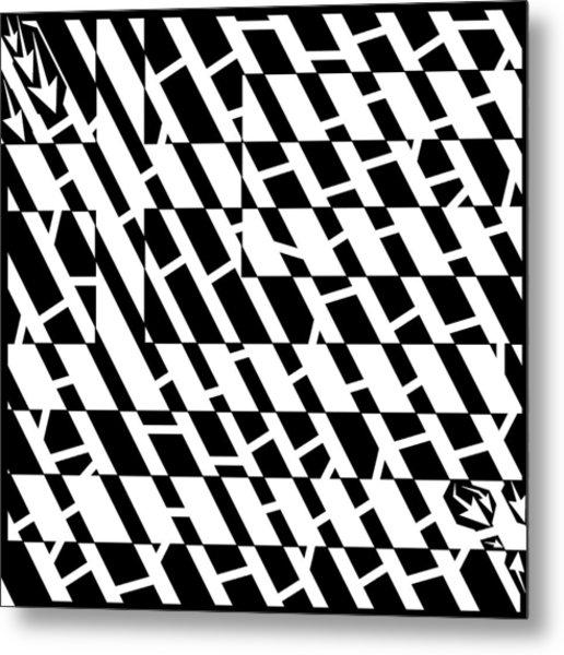 Flag Of Greece Maze  Metal Print by Yonatan Frimer Maze Artist