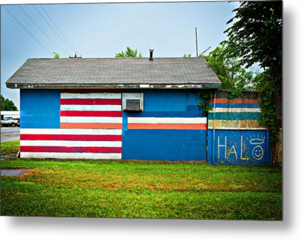 Flag Wall Metal Print