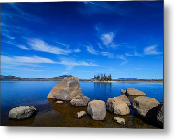 Metal Print featuring the photograph Flagstaff Lake Maine by Michael Hubley