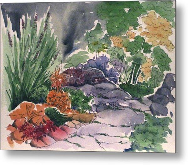 Flagstone Path Metal Print by Renee Goularte