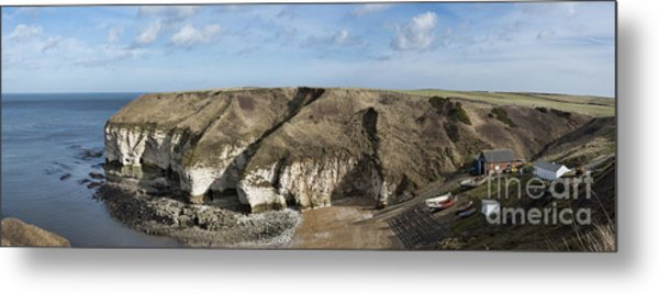 Flamborough North Landing Metal Print