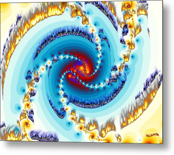 Flame Metal Print by Bobby Hammerstone
