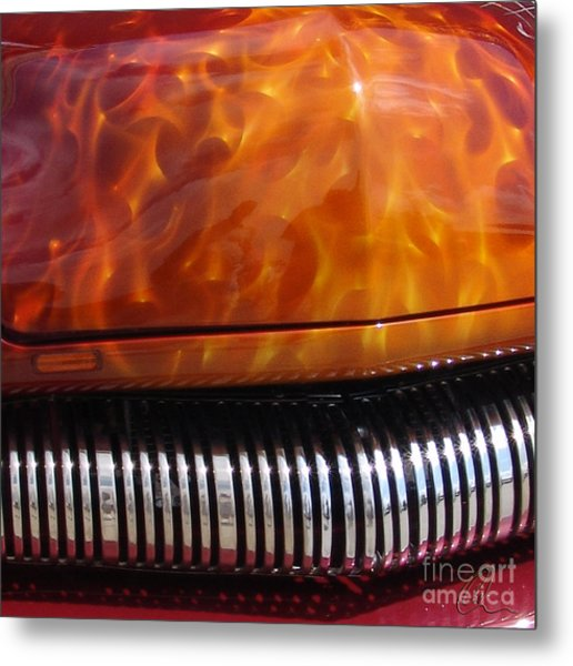 Flame Rod 1 Squared Metal Print