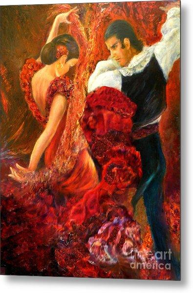 Flamenco Couple Aa Metal Print