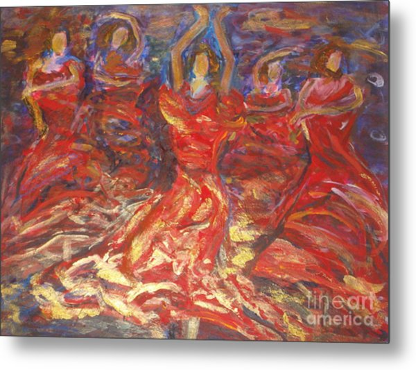 Flamenco Dancers Metal Print