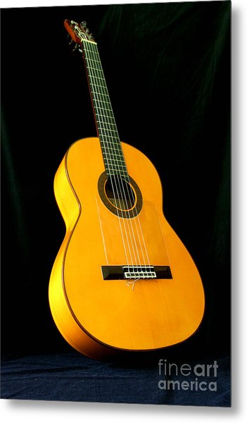 Flamenco Guitar Metal Print by Russell Christie